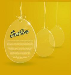 easter egg glass1 vector image