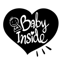 english phrase for baby inside vector image