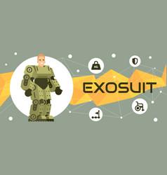 exosuit banner vector image