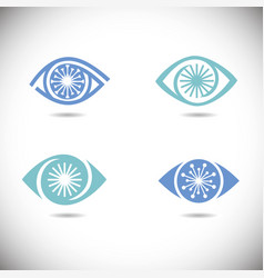 Eye icons set vector