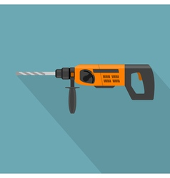 flat drill vector image