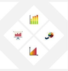 flat icon diagram set of monitoring statistic vector image