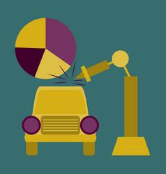 Flat icon on stylish background automotive vector