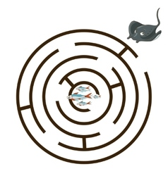 Game labyrinth find a way stingray vector