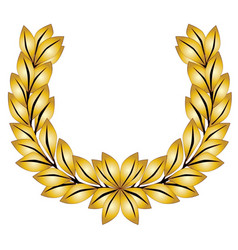 Golden laurel crown vector