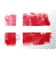 grunge and distressed flag denmark vector image