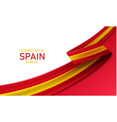 Happy national day spain vector