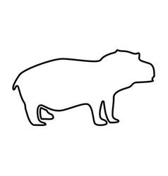 Hippopotamus it is black icon vector