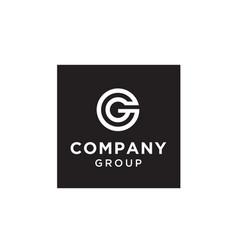 Initials monogram cg gc letter logo design vector