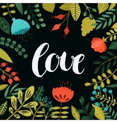 Inspirational love card vector image