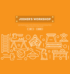joiners workshop poster in linear style vector image