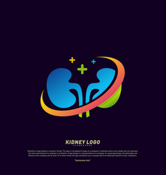 kidney logo design concept urology logo template vector image