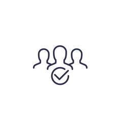 membership line icon on white vector image