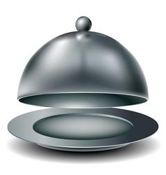 Metal food tray vector
