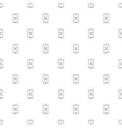 Mobile eject background from line icon vector