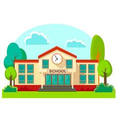 Modern school buildings exterior student city vector
