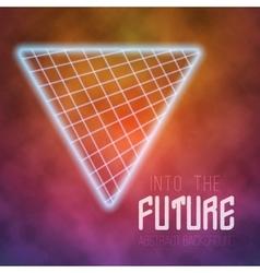 Neon poster retro disco background vector