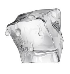 Opaque ice cube vector