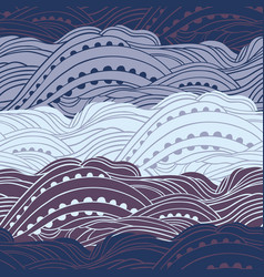 pattern sea cosmo waves vector image