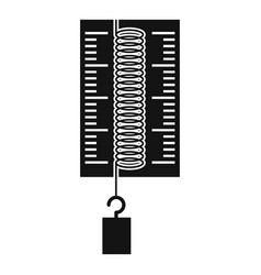 Physics dynamometer for laboratory work icon vector