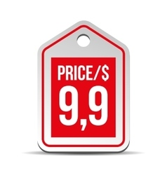 Price tag red vector