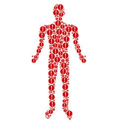 problem human figure vector image