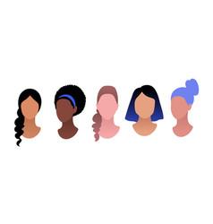 Profile pictures avatars set vector