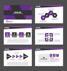 Purple black presentation templates Infographic vector