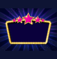 retro frame with five stars vector image
