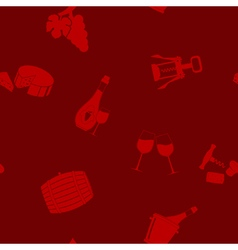 Seamless pattern with wine icons vector image