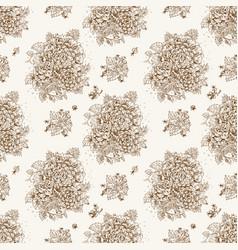 seamless vintage decorative ornament stylized vector image