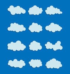 Set of various clouds vector