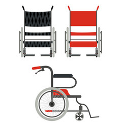 Set wheelchair on a white background flat style vector