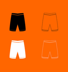 shorts black and white set icon vector image