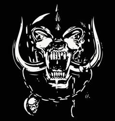 Skull black and white vector