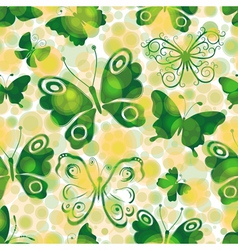 Spotty seamless spring pattern vector