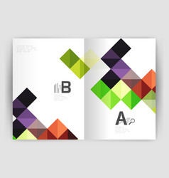 square leaflet business a4 print template vector image