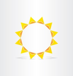 stylized sun rays hot energy icon vector image