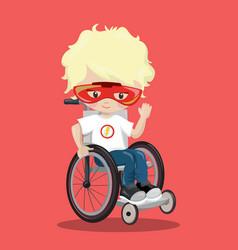 Superhero in a wheelchair white ironman 09 vector