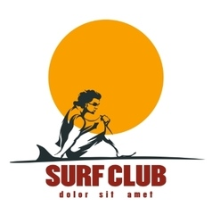 Surf club emblem vector image