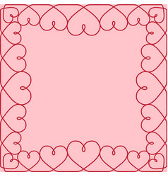 template greeting card valentine hearts vector image