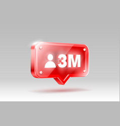 Thank you followers peoples 3 million online vector