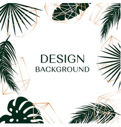 Tropical background with free space for text vector