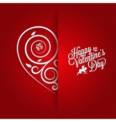 Valentines Day Vintage Card Ornate Background vector