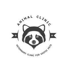 Vintage logotype animal clinic vector