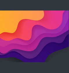 vivid color abstract geometric background fluid vector image