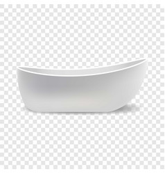 White bathtub mockup realistic style vector