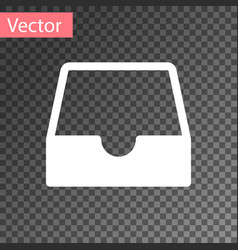 White social media inbox icon isolated vector