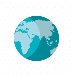 world planet design vector image