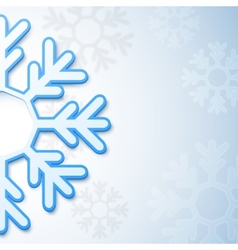 Abstract christmas snowflake background vector image vector image